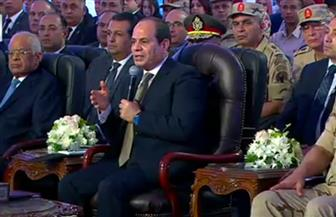"""الرئيس السيسي عن واقعة مستشفى ديرب نجم: """"سيتم التعامل مع أي مشكلة بالقانون"""""""