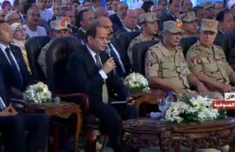 الرئيس السيسي: سأذهب للعديد من المدارس وسأجلس وسط أحفادى لمتابعة التعليم
