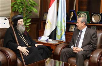محافظ كفر الشيخ يستقبل وفد الكنيسة برئاسة الأنبا بيشوي | فيديو