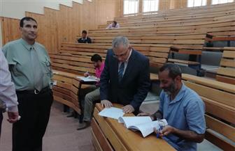 نائب رئيس جامعة الأزهر يتفقد امتحانات التصفية والدراسات العليا | صور