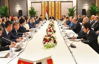 الرئيس السيسي يلتقي رؤساء كبرى الشركات الصينية العاملة في مصر ويشهد توقيع عدد من الاتفاقيات والعقود | صور