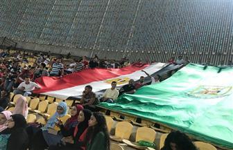 طلاب جامعة القاهرة في مدرجات مباراة الأهلي والإنتاج بالدوري |صور