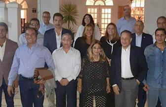 السفير شريف عيسى يستقبل وفد الهيئة المصرية الوطنية للانتخابات في جنوب إفريقيا | صور