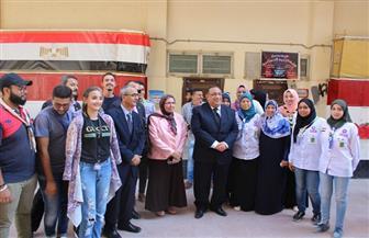 رئيس جامعة حلوان يتفقد كليات الحرم الجامعي | صور