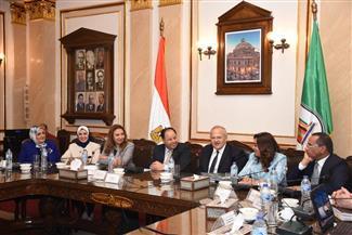 رئيس جامعة القاهرة يستقبل وزير المالية ومحافظ دمياط |صور