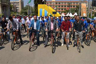 ماراثون دراجات لطلاب بجامعة عين شمس | صور