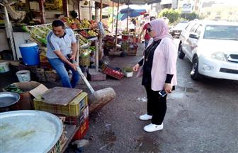 رئيسة مدينة الحامول تقود حملة لإزالة الإشغالات | صور