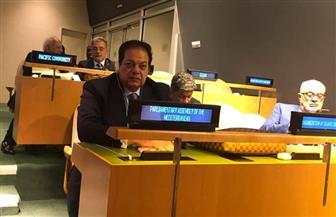 «أبو العينين» يعرض فيلما لإنجازات الرئيس السيسي فى الأمم المتحدة.. ويؤكد: مصر حققت قفزة تنموية هائلة
