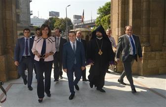 وزيرة الهجرة ووزير شئون المغتربين الأرميني يزوران بطريركية الأرمن الأرثوذكس في رمسيس   صور