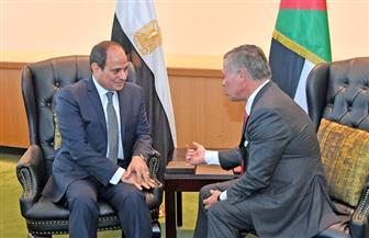 الرئيس السيسي والعاهل الأردني يؤكدان أهمية تكاتف جهود الدول العربية للتصدي للأزمات القائمة