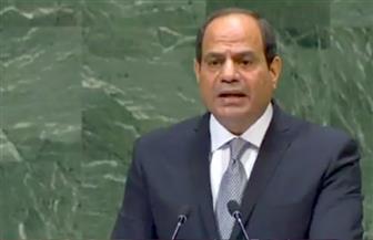 الرئيس السيسي: مصر تمتلك أساسا راسخا لحماية حقوق الإنسان والمرأة تشغل 25% من المناصب القيادية