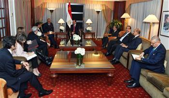 الرئيس السيسي يستقبل رئيس شركة بوينج بمقر إقامته في نيويورك