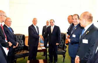 الرئيس عبدالفتاح السيسي يلتقى نظيره البرتغالي في نيويورك