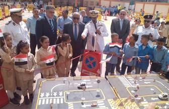 مدينة المرور المتنقلة بمدرسة الشهيد محمد حجاج زرزور بالأقصر | صور