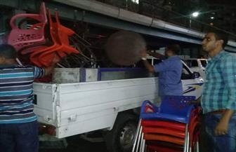 رئيس حي جنوب الجيزة يقود حملة ليلية على الإشغالات | صور