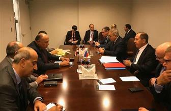 وزيرا خارجية مصر وروسيا يجريان مباحثات ثنائية على هامش اجتماعات الأمم المتحدة بنيويورك | صور