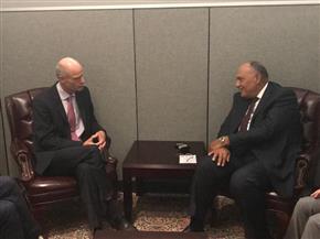 """""""شكري"""" يعرب لنظيره الهولندي عن تطلع مصر لتطوير التعاون الثنائي في المجالات الاقتصادية"""
