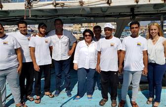 السفيرة مي خليل تستقبل الصيادين المصريين المفرج عنهم بقبرص| صور وفيديو