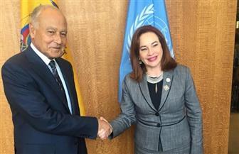 أبو الغيط يلتقي برئيسة الجمعية العامة للأمم المتحدة