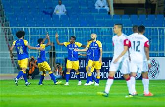 النصر السعودي يسحق الجزيرة الإماراتي ويتأهل لدور الـ 16 في كأس زايد للأندية الأبطال | صور