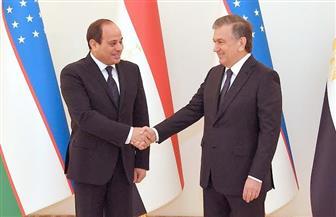 الرئيس السيسي ونظيره الأوزبكي يتفقان على زيادة التبادل التجاري ومكافحة الإرهاب| صور