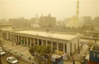 غيوم وعاصفة ترابية في أسوان |صور