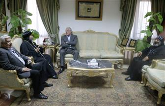 محافظ جنوب سيناء يستقبل أسقف سيناء الجنوبية  صور