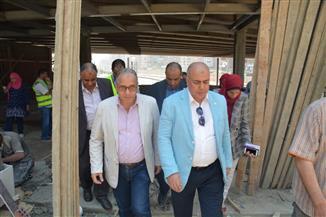رئيس مترو الأنفاق والعضو المنتدب يتفقدان أعمال التطوير بمحطة المرج الجديدة