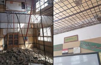 """بعد تحقيق """"بوابة الأهرام"""".. الأبنية التعليمية تبدأ أعمال صيانة مدرسة طارق بن زياد.. ووعود بإنهائها في 15 يوما"""