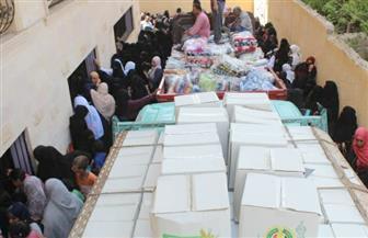قافلة الأزهر توزع مساعدات غذائية وإنسانية على أهالي رفح والشيخ زويد | صور