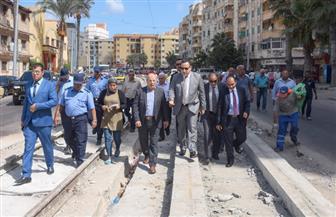 محافظ الإسكندرية يتفقد مشروع تجديد سكة ترام رأس التين للوقوف على أسباب تأخيره| صور