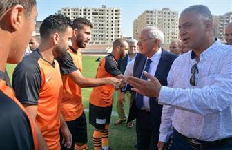 محافظ الدقهلية يشهد مباراة فريقي المنصورة ودمنهور في الدوري الممتاز ب