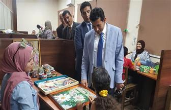 """وزير الشباب والرياضة يتفقد فعاليات برنامج """"الفن في الممر""""   صور"""