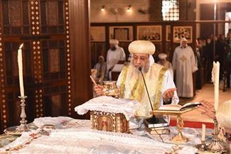 """البابا تواضروس يترأس قداس الأربعين للأنبا إبيفانيوس بدير """"أبو مقار"""""""
