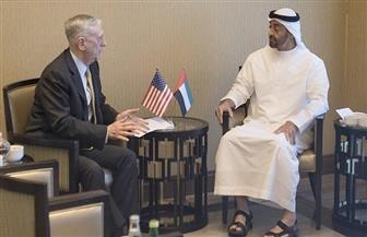 محمد بن زايد يلتقي وزير الدفاع الأمريكي