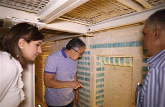 وزير الآثار يتفقد أعمال التطوير والترميم بالمقبرة الجنوبية للملك زوسر| صور