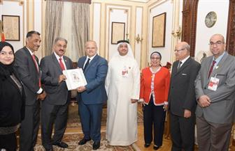رئيس جامعة القاهرة يلتقي وفدا من الجامعة الأهلية بالبحرين لبحث التعاون في المجالات التعليمية  صور