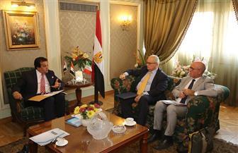 وزير التعليم العالي يبحث مع السفير الإيطالي بالقاهرة تعزيز التعاون المشترك| صور