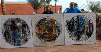 """٣٠ فنانا تشكيليا عالميا يواصلون الإبداع فى """"ملتقى شرم الشيخ الدولى للفنون"""""""
