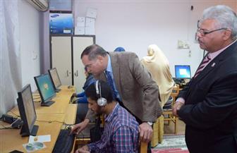 رئيس جامعة سوهاج يواصل تفقده امتحانات الطلاب المكفوفين |صور