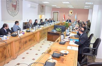 مجلس جامعة سوهاج يناقش نشر مقررات التعليم المدمج إلكترونيا