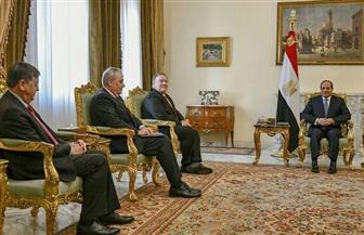 الرئيس السيسي يلتقي وزير الخارجية الأمريكي ويؤكد عمق الشراكة الإستراتيجية بين البلدين