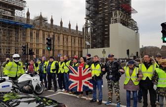 """أصحاب """"السترات الصفراء"""" في بريطانيا يستعدون للتظاهر ضد ماي غدا"""