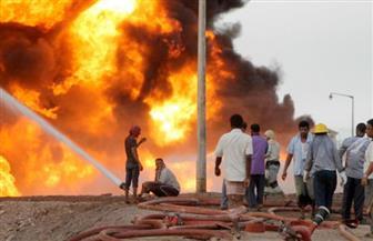 اندلاع حريق في خزان مصفاة عدن النفطية جنوب اليمن.. وشكوك حول عمل تخريبي