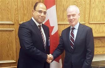 سفير مصر في أوتاوا يلتقي مستشار رئيس الوزراء الكندي للشئون الخارجية والدفاعية| صور