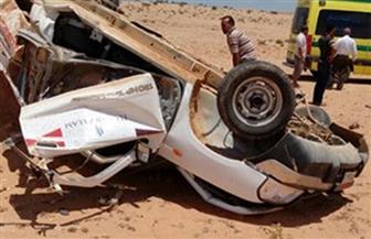 مصرع شخص وإصابة 7 آخرين فى حادث انقلاب سيارة بأسوان