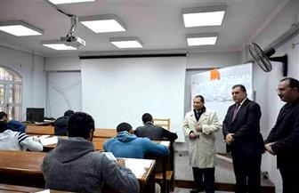 رئيس جامعة بورسعيد يتفقد سير أعمال امتحانات كليتي الطب والتربية النوعية | صور