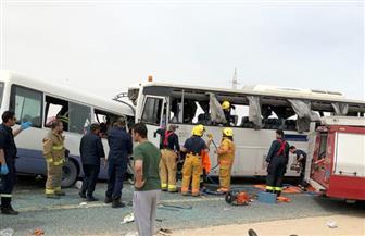 وصول 5 جثامين من ضحايا حادث الكويت وتسليمهم لذويهم بمطار القاهرة