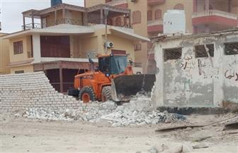 إزالة 6 حالات تعد على أراضي الدولة  بشاطئ الأُبيض بمدينة مرسى مطروح | صور
