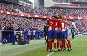أتلتيكو مدريد يزاحم برشلونة على صدارة الدوري الإسباني بعد فوزه على بلباو